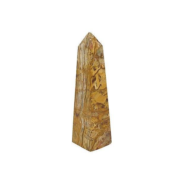 Mid-Century Polished Onyx Obelisk - Image 4 of 4