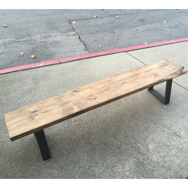 Rustic Modern Bench With Live Edge Chairish