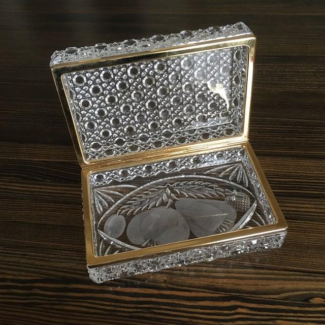 Vintage Crystal Jewelry Box - Image 3 of 7