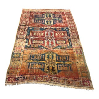 "Antique Turkish Gaziantep Rug - 3'8"" x 6'"