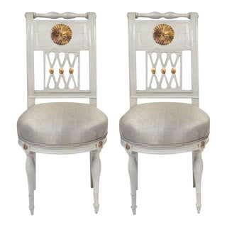French Directoire Period Pair of Side Chairs