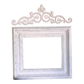 Shabby Chic Wooden Frame & Scroll - A Pair