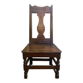 Antique English Oak Pub Chair