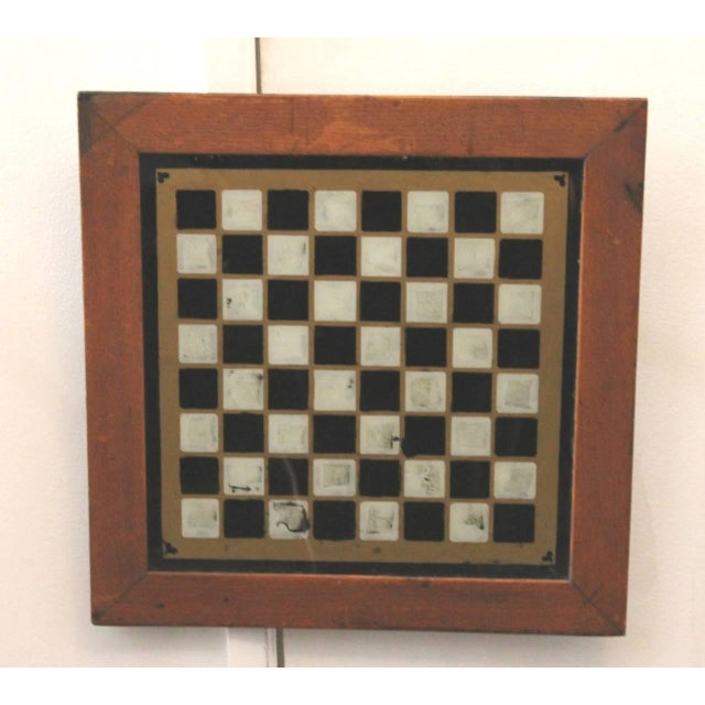 19th Century all Original Reverse Painted Gameboard with Hearts from Arkansas - Image 4 of 5