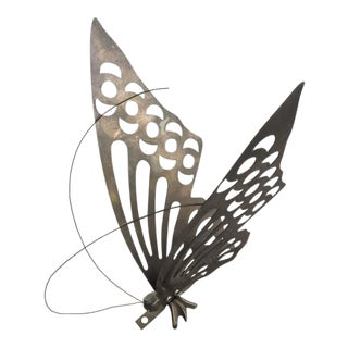 Vintage Brass Butterfly Wall Decor