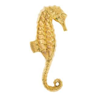Brass Seahorse Door Knocker