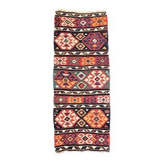 1920's Vintage Persian Shirvan Kilim Rug - 3′1″ × 7′10″