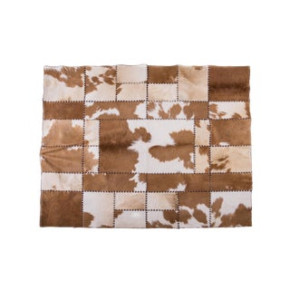 """Aydin Cowhide Patchwork Area Rug   6'5"""" X 5'9"""""""