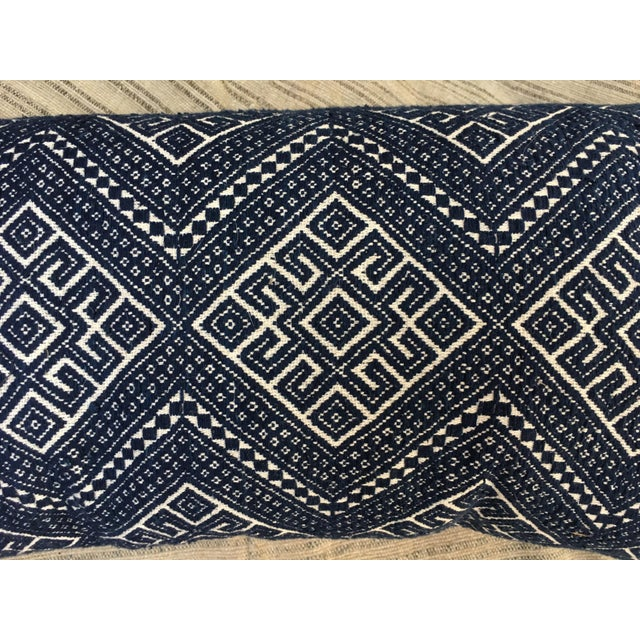 Antique Hand Woven Wedding Quilt Pillow - Image 4 of 6
