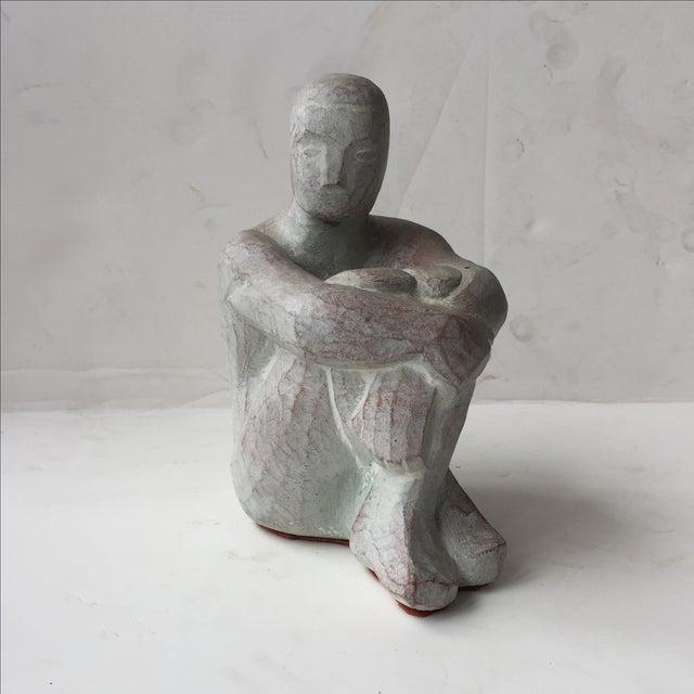 Men Seated Terra Cotta Sculpture - Image 10 of 11