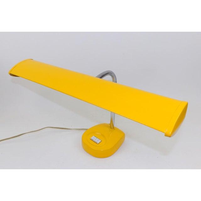 Antique Marigold Yellow Goose Neck Tanker Desk Lamp - Image 3 of 7