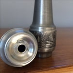 Image of Vintage Pewter Salt and Pepper Shakers