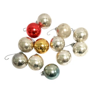 """Vintage 1.5"""" glass ornaments by George Franke Sons Co. - Set of 12"""