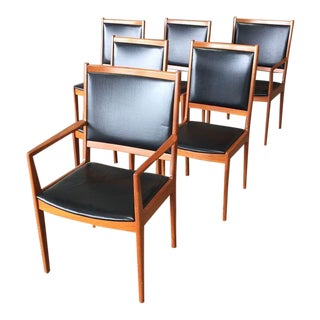 Vejle Stole Danish Modern Dining Chairs - Set of 6