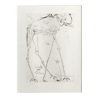 """Salvador Dali """"Space Elephant"""" Etching"""