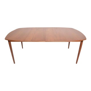 Mid-Century Danish Modern Teak Dining Table with Two Extensions