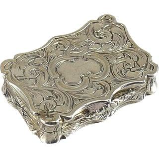 1876 Nathaniel Mills Victorian Birmingham Sterling Silver Vinaigrette Box