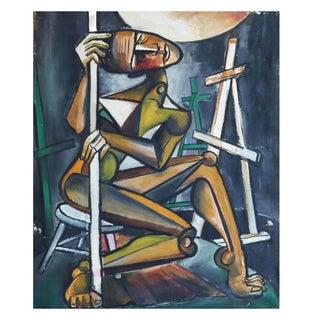 Alvin M. Cohen Original Modern Oil Painting