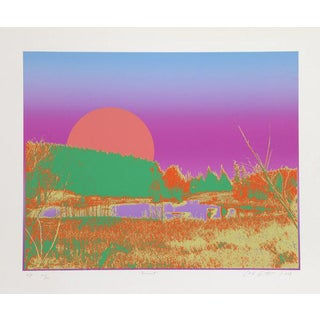 """Sunset"" Signed Serigraph Print"