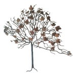 Image of Vintage Tree Wall Sculpture in Style of Jere
