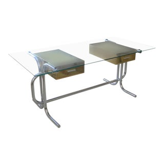 1970's Tubular Italian Desk