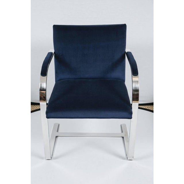 Brno Flat Bar Chairs in Navy Velvet, Set of Six - Image 7 of 9