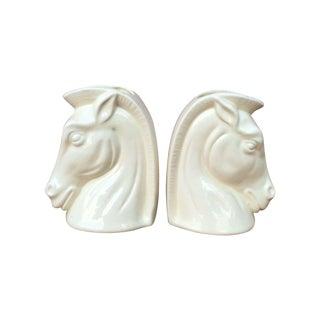 Mid-Century Ceramic Horse Head Planters - A Pair