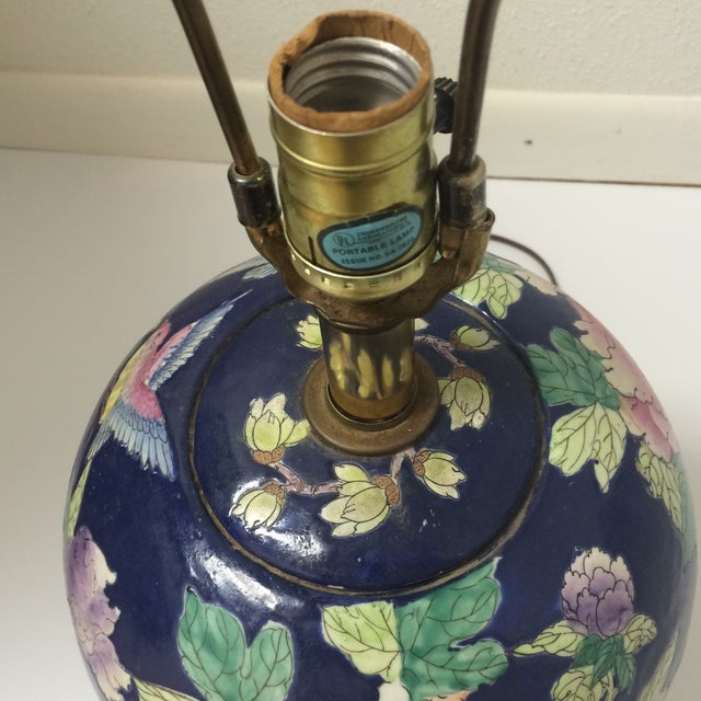 Chinoiserie Blue Floral Ginger Jar Lamp - Image 7 of 8