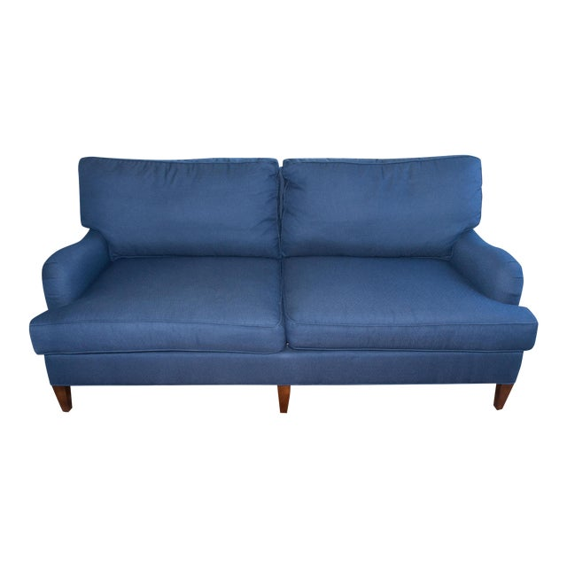 C.R. Laine Blue Custom Couch - Image 1 of 6