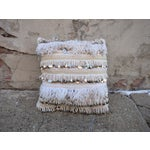 Image of Moroccan Handira Wedding Blanket Throw Pillow