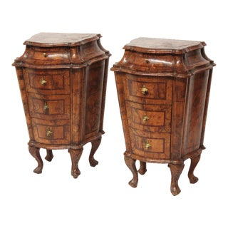 Pair of Petite Olivewood Commodes