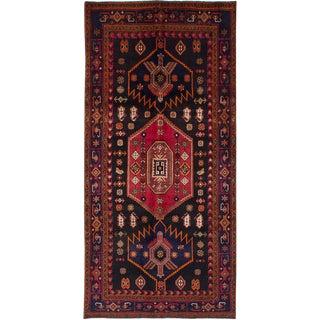 "Vintage Persian Zanjan Rug- 4'8"" x 9'10"""