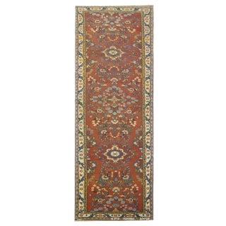 """Vintage Persian Hamedan Runner Rug - 3'3"""" x 13'4"""""""