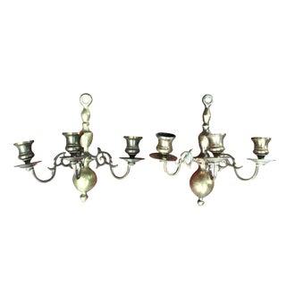 Brass Candelabra Sconces - A Pair
