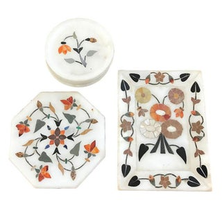 Alabaster Trays and Coasters - Set of 8