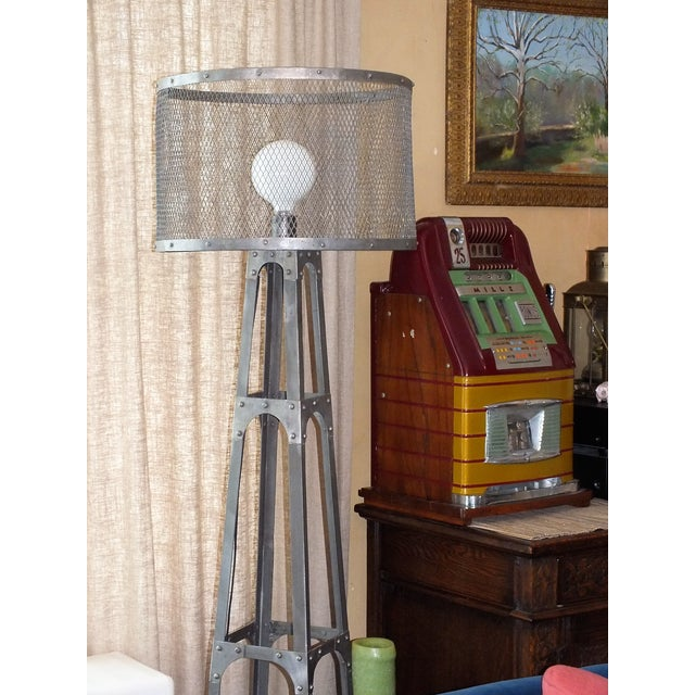 Recycled Industrial Style Floor Lamp - Image 8 of 8