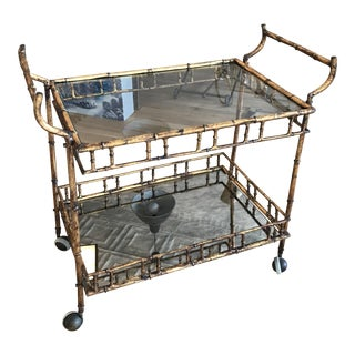Bagues Style Faux Bamboo Bar Cart