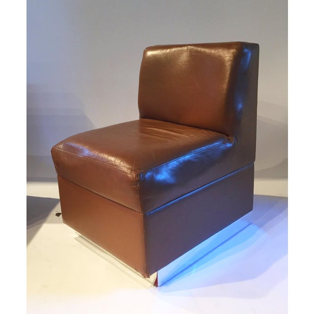 1970s Gucci Leather Slipper Chairs - a Pair - Image 8 of 8