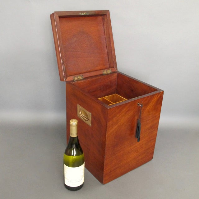Antique English Mahogany Wine Box - Image 7 of 11