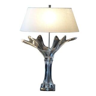 Stunning French Crystal Art Verrier Lamp