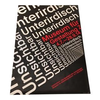 Modern Swiss Helvetica Poster