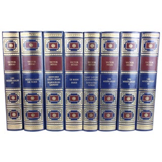 Victor Hugo French Books - Set of 8