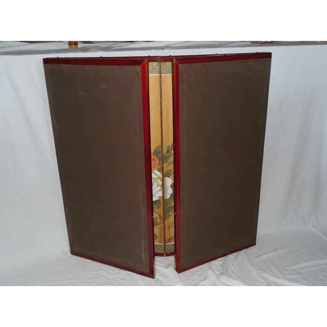 Japanese Silk Byobu Screen With Pheasants - Image 6 of 8
