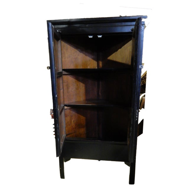 Black Lacquer Corner Armoire - Image 4 of 10