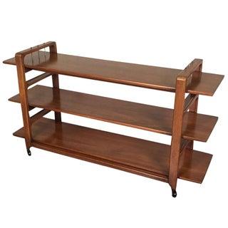 White Furniture Co. Danish Modern Serving Cart