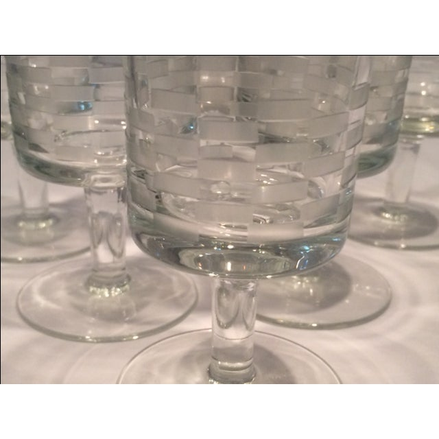 Image of MCM Geometric Etched Champagne Flute Set - 6