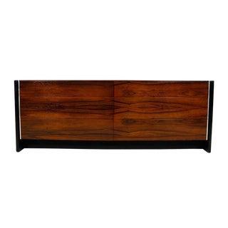 John Stuart Mid-Century Black Lacquer & Rosewood Dresser