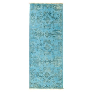 "Overdyed Hand Knotted Runner - 2'7"" X 6'6"""