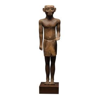 New Kingdom Wooden Sculpture of a Standing Man
