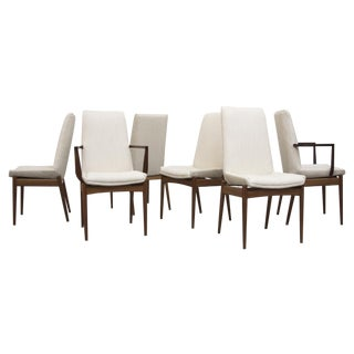 Parsons-Style Danish Chairs in Bone - Set of 6